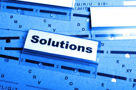 solution word on business folder showing solving a problem concept Stock Photo - 8424019