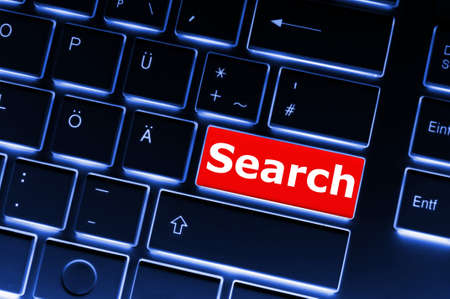 internet search concept with word and key on keyboard Stock Photo - 8423980