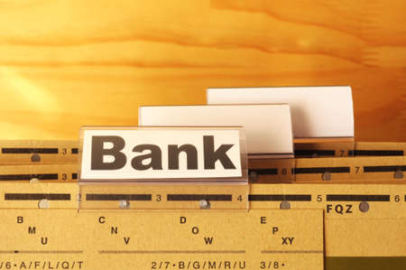 bank or banking word on tab folder showing finance or financial success concept Stock Photo - 8469913