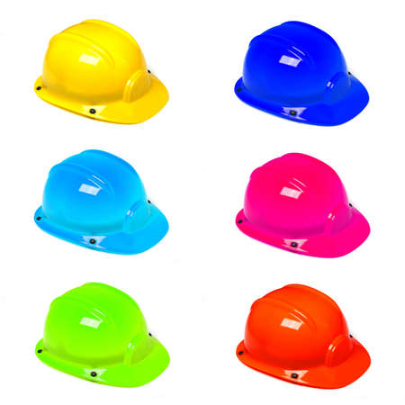 hard hat or construction helmet showing safety work concept photo