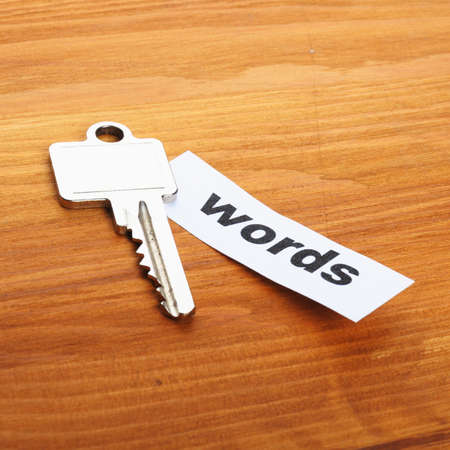 keywords metadata or seo concept with key and word Stock Photo - 8509217