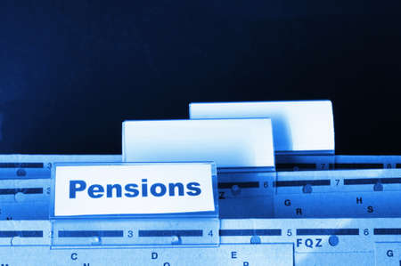 ira: pension pension or retirement concept with word on business office folder index