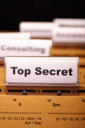 top secret folder or file in a business office  Stock Photo - 8509223