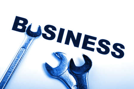 business concept with construction tool showing success Stock Photo - 8509211
