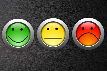 business customer service feedback concept with survey button photo