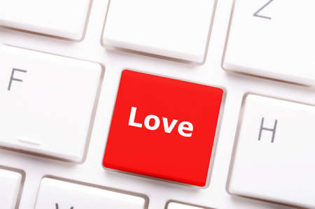 love on key or keyboard showing internet dating concept Stock Photo - 8578697