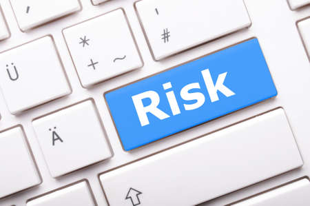 crisis management: risk management key showing business insurance concept Stock Photo