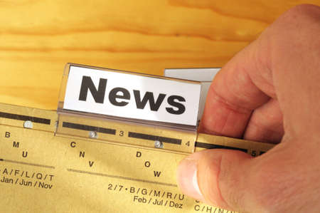 news or newsletter concept with word on folder register in business office Stock Photo - 8705559