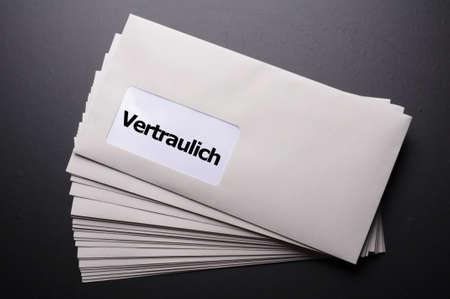 confidential or top secret letter showing business post concept Stock Photo - 8777701