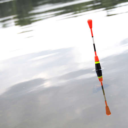 bobber: bobber or fishing float in water showing success concept