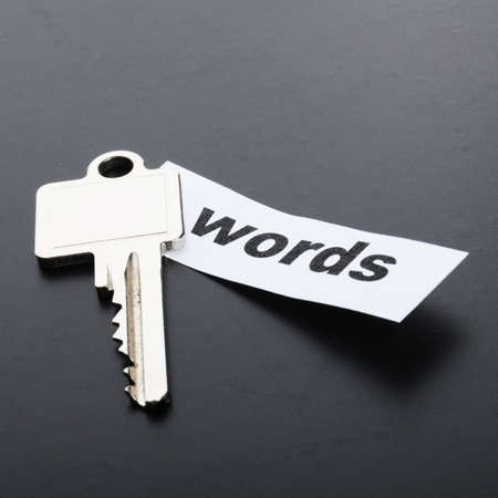 keywords metadata or seo concept with key and word Stock Photo - 8777665