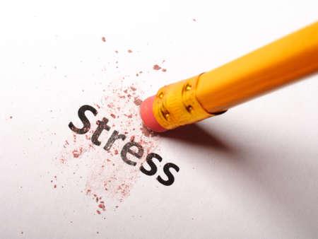 stress bij het business office concept met potlood en gum Stockfoto