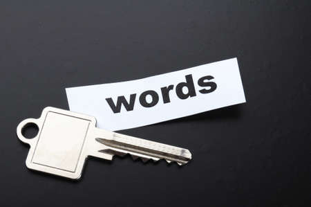 keyword key words seo or metadata concept showing internet data search Imagens