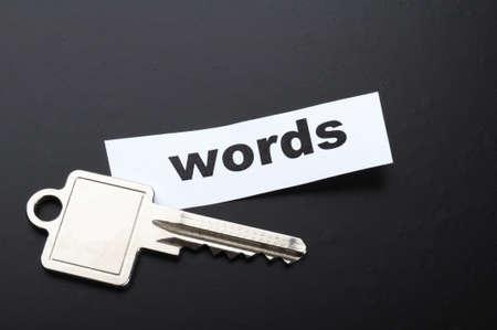 Schlüsselwort Schlüsselwörter Seo oder Metadaten Konzept zeigt Internet-Daten suchen Lizenzfreie Bilder