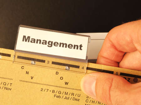 management word on business office folder showing leadership concept Stock Photo - 8840814
