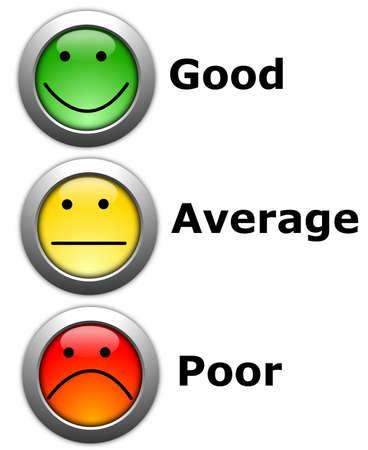 an opinion: business customer service feedback concept with survey button Stock Photo