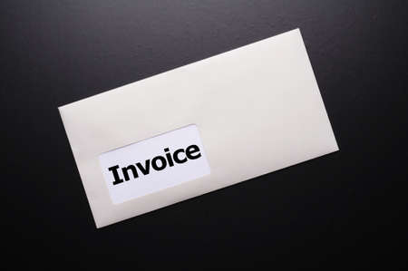 remit: invoice mail concept with envelop showing business