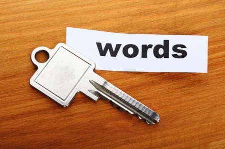 metadata: dati di internet che parole chiave seo o metadati concetto mostra parole chiave di ricerca Archivio Fotografico