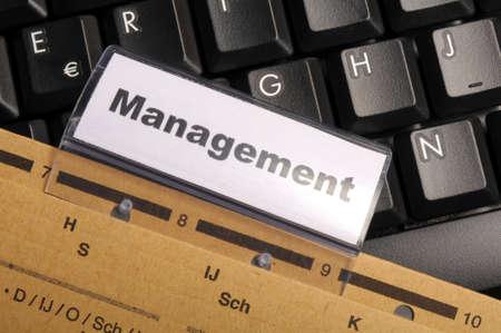 decission: parola di gestione sul concetto di leadership di business office cartella Visualizzando Archivio Fotografico