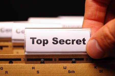 top secret folder or file in a business office  photo