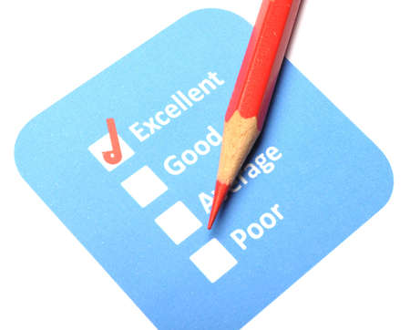 marketing concept with checkbox from questionnaire and red pencil Stock Photo - 8865571
