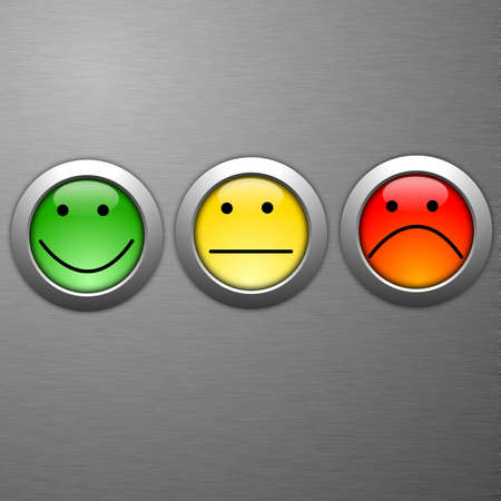 business customer service feedback concept with survey button Stock Photo - 8865578