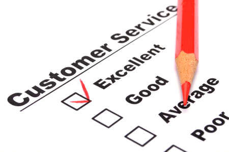 satisfaction survey showing marketing concept to improve sales photo