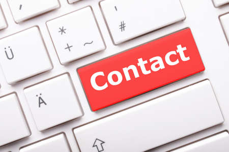 word contact us on red keyboard key Stock Photo - 9011736