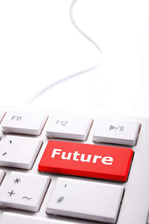 future key on keyboard showing time concept photo