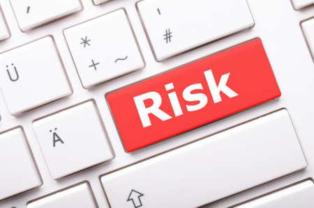 risiko: Risk Management-Konzept mit Word auf wichtige Ergebnis riskanten Investitionen