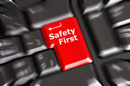 fairplay: safety first on computer key showing security concept