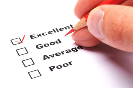 customer satisfaction survey form with checkbox showing marketing concept Stock Photo - 9083705
