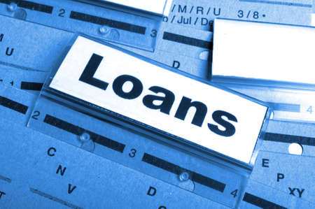 loan application in business folder showing financial investment concept Stock Photo - 9104540