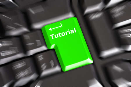 tutorial key with word showing internet or online software education concept photo