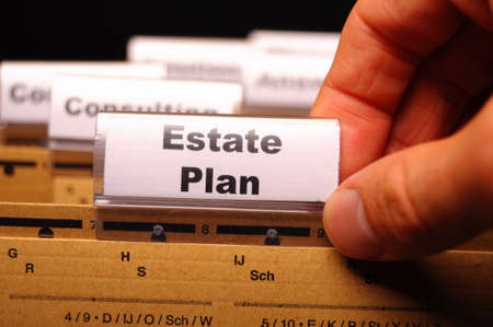 real estate plan on business folder showing buy a house concept