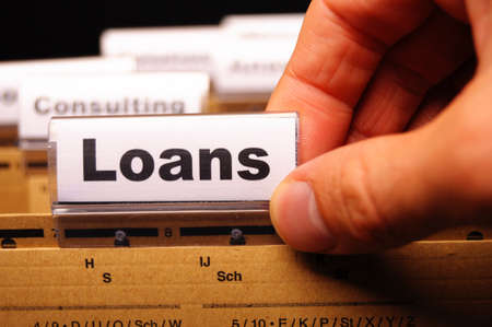 loan application in business folder showing financial investment concept Stock Photo - 9209733