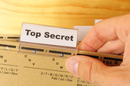 top secret folder or file in a business office  photo