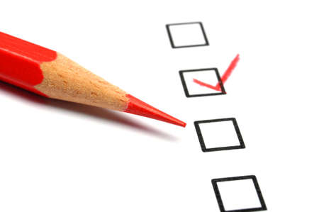 consumer survey with questionnaire checkbox to improve sales Stock Photo - 9256360