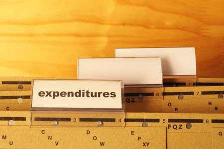 expenditures word on business folder showing costs finance or investment concept Stock Photo - 9256747