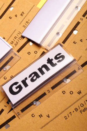 grants word on paper folder showing scholarship or higher education concept Stock Photo - 9256754