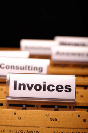invoice or invoices concept with business folder in office showing paperwork Stock Photo - 9256374