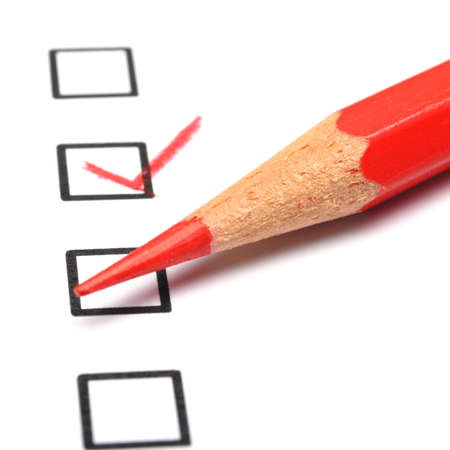 an opinion: satisfaction survey showing marketing concept to improve sales Stock Photo
