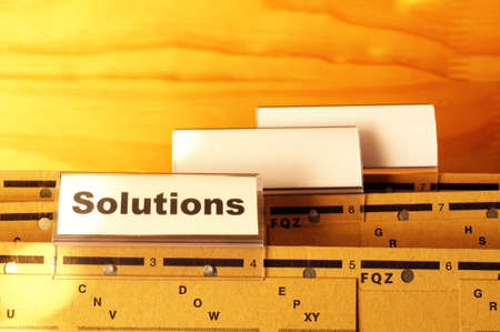 solution word on business folder showing solving a problem concept Stock Photo - 9307506