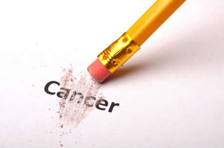 cancer and eraser showing health or medical concept Stok Fotoğraf - 9307443