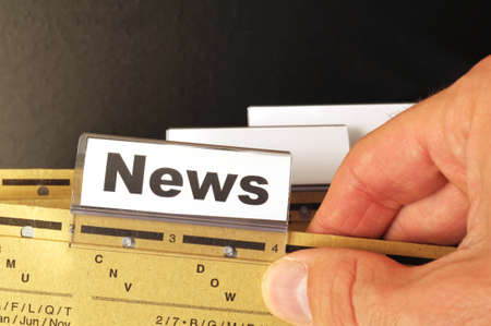 news or newsletter concept with word on folder register in business office Stock Photo - 9346946