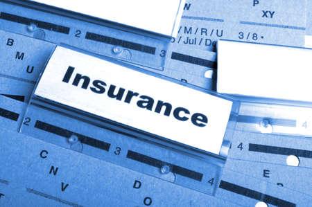 Versicherung Wort auf Business Ordner Ergebnis Risk Management-Konzept