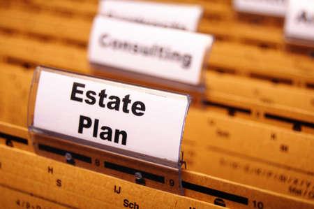 Immobilien Plan für Business Ordner zeigt ein Hauskonzept kaufen