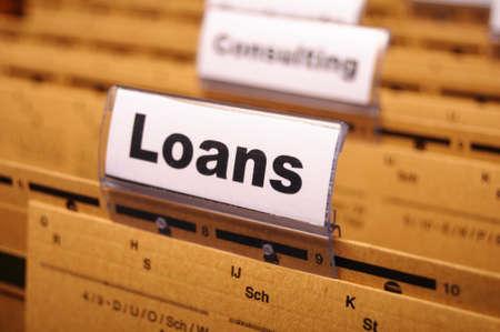 ビジネス フォルダー表示財政投資概念の融資申し込み