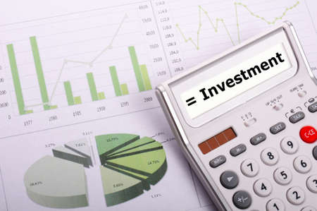 investment risk: investment or invest money concept showing financial success