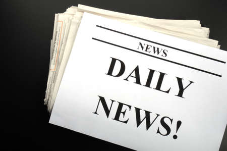 pile of newspapers showing news or newsletter concept Stock Photo - 9594642